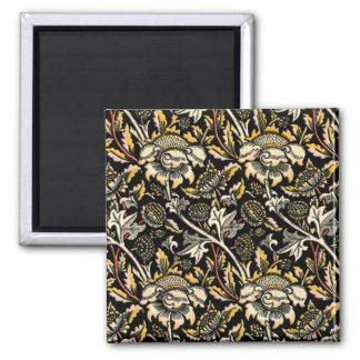 ウィリアム・モリスの暗い花のアラベスク マグネット