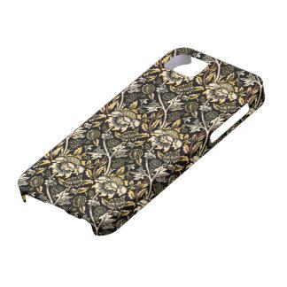 ウィリアム・モリスの暗い花のアラベスク iPhone SE/5/5s ケース