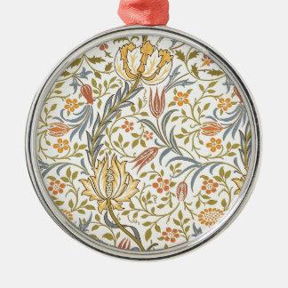 ウィリアム・モリスの植物相のデザイン メタルオーナメント