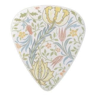 ウィリアム・モリスの植物相のヴィンテージの花柄アールヌーボー アセタール ギターピック