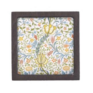 ウィリアム・モリスの植物相のヴィンテージの花柄アールヌーボー ギフトボックス