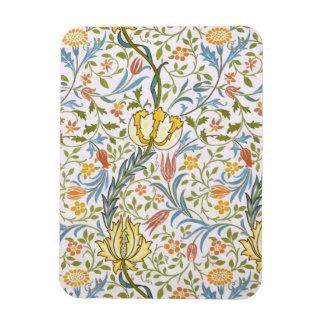 ウィリアム・モリスの植物相のヴィンテージの花柄アールヌーボー マグネット