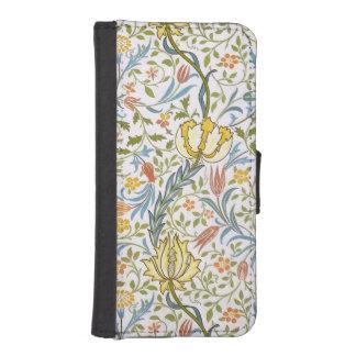 ウィリアム・モリスの植物相のヴィンテージの花柄アールヌーボー iPhoneSE/5/5sウォレットケース