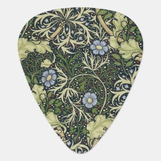 ウィリアム・モリスの海藻パターン花のヴィンテージの芸術 ギターピック