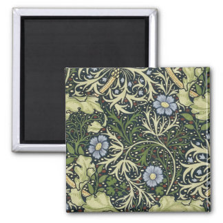 ウィリアム・モリスの海藻パターン花のヴィンテージの芸術 マグネット