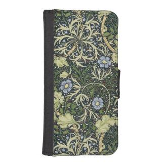 ウィリアム・モリスの海藻パターン花のヴィンテージの芸術 iPhoneSE/5/5sウォレットケース
