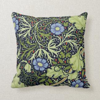 ウィリアム・モリスの海藻壁紙パターン クッション
