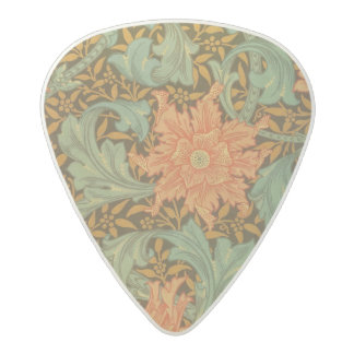 ウィリアム・モリスの独身のな茎パターンアールヌーボー アセタール ギターピック