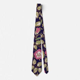 ウィリアム・モリスの甘いイバラの花柄アールヌーボー カスタムネクタイ