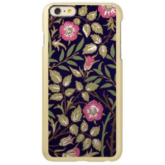 ウィリアム・モリスの甘いイバラの花柄アールヌーボー INCIPIO FEATHER SHINE iPhone 6 PLUSケース