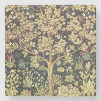 ウィリアム・モリスの生命の樹 ストーンコースター