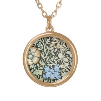 ウィリアム・モリスの花柄 ゴールドプレートネックレス