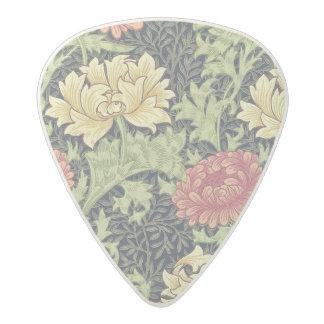 ウィリアム・モリスの菊のヴィンテージの花柄の芸術 アセタール ギターピック
