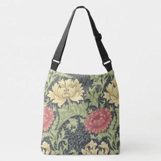 ウィリアム・モリスの菊のヴィンテージの花柄の芸術 クロスボディバッグ