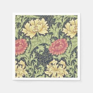 ウィリアム・モリスの菊のヴィンテージの花柄の芸術 スタンダードカクテルナプキン