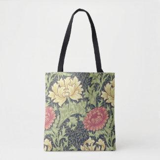 ウィリアム・モリスの菊のヴィンテージの花柄の芸術 トートバッグ
