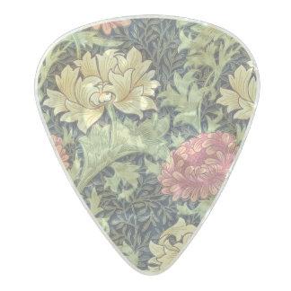ウィリアム・モリスの菊のヴィンテージの花柄の芸術 パールセルロイド ギターピック