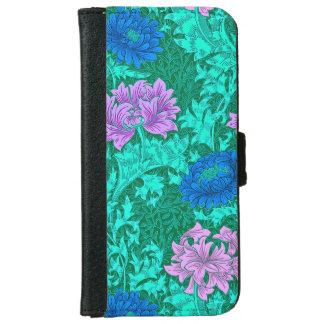 ウィリアム・モリスの菊、水およびバイオレット iPhone 6/6S ウォレットケース