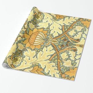 ウィリアム・モリスの豊富な花のヴィンテージパターン ラッピングペーパー