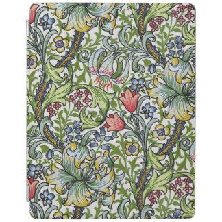 ウィリアム・モリスの金ユリの花のChintzパターン iPadスマートカバー