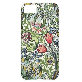 ウィリアム・モリスの金ユリの花のChintzパターン iPhone 5C ケース