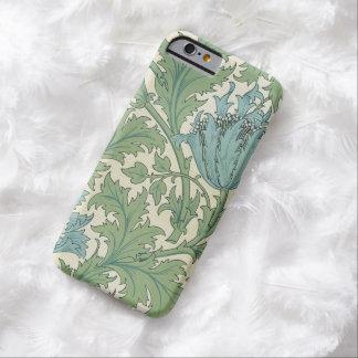 ウィリアム・モリスの青いアネモネのデザインの花柄のヴィンテージ BARELY THERE iPhone 6 ケース