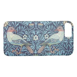 ウィリアム・モリスの青いタペストリーの鳥の花柄のヴィンテージ iPhone 8/7ケース