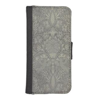 ウィリアム・モリスの鳥およびつる植物パターン iPhoneSE/5/5sウォレットケース