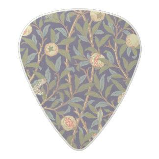 ウィリアム・モリスの鳥およびザクロのヴィンテージの花柄 アセタール ギターピック