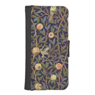 ウィリアム・モリスの鳥およびザクロのヴィンテージの芸術 iPhoneSE/5/5sウォレットケース