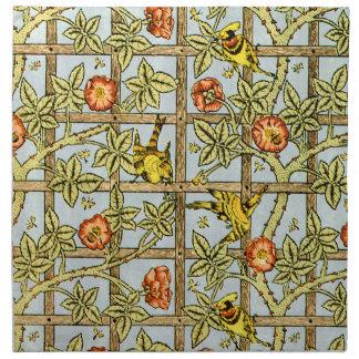 ウィリアム・モリスの鳥および花模様 ナプキンクロス