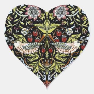 ウィリアム・モリスの鳥および花2 ハートシール