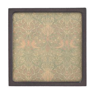 ウィリアム・モリスの鳩およびばら色パターン ギフトボックス