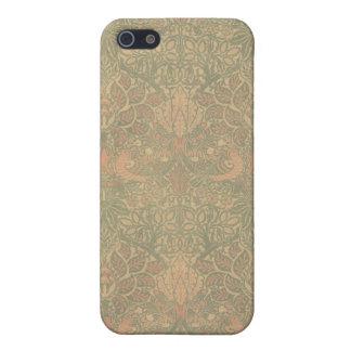 ウィリアム・モリスの鳩およびばら色パターン iPhone SE/5/5sケース