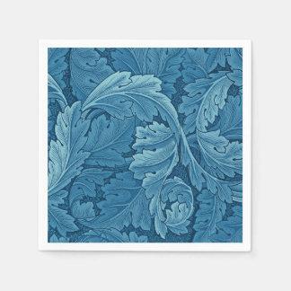 ウィリアム・モリスのAcanthusのヴィンテージの青 スタンダードカクテルナプキン