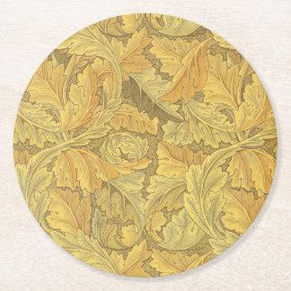 ウィリアム・モリスのAcanthusの壁紙 ラウンドペーパーコースター