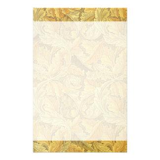 ウィリアム・モリスのAcanthusの壁紙 便箋