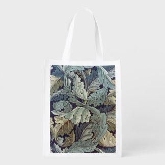 ウィリアム・モリスのAcanthusの花模様の壁紙のデザイン エコバッグ