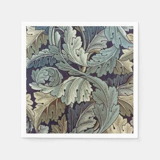 ウィリアム・モリスのAcanthusの花模様の壁紙のデザイン スタンダードカクテルナプキン