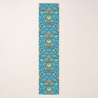 ウィリアム・モリスのHyacinthのプリント、水およびブラウン スカーフ