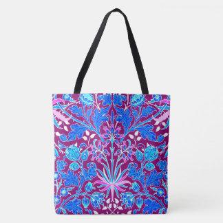 ウィリアム・モリスのHyacinthのプリント、水および紫色 トートバッグ