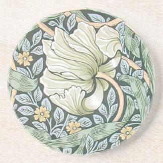 ウィリアム・モリスのPimpernelの花柄 コースター