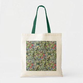 ウィリアム・モリスユリの花のChintzパターントートバック トートバッグ