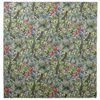 ウィリアム・モリスユリの花のChintzパターン ナプキンクロス