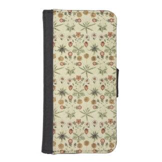 ウィリアム・モリス素朴な花パターンウォレットケース iPhoneSE/5/5sウォレットケース