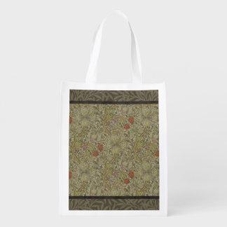 ウィリアム・モリス花ユリのヤナギの芸術のプリントのデザイン エコバッグ
