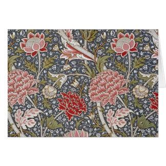 ウィリアム・モリス著Crayの織物 カード