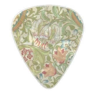 ウィリアム・モリス金ユリのヴィンテージのラファエロ前の画家 パールセルロイド ギターピック