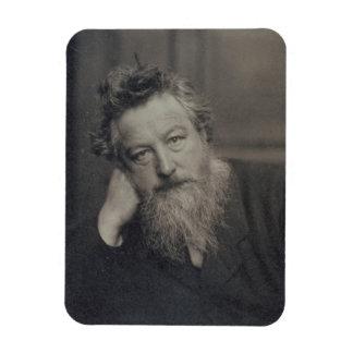 ウィリアム・モリス(1834-96年)のポートレートの写真 マグネット