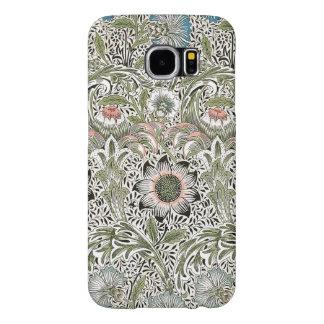 ウィリアム・モリスCorncockleのデザインの花柄のヴィンテージ Samsung Galaxy S6 ケース